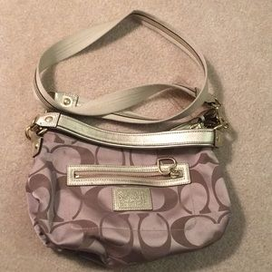 Authentic Coach Gold Hobo Shoulder Crossbody Purse